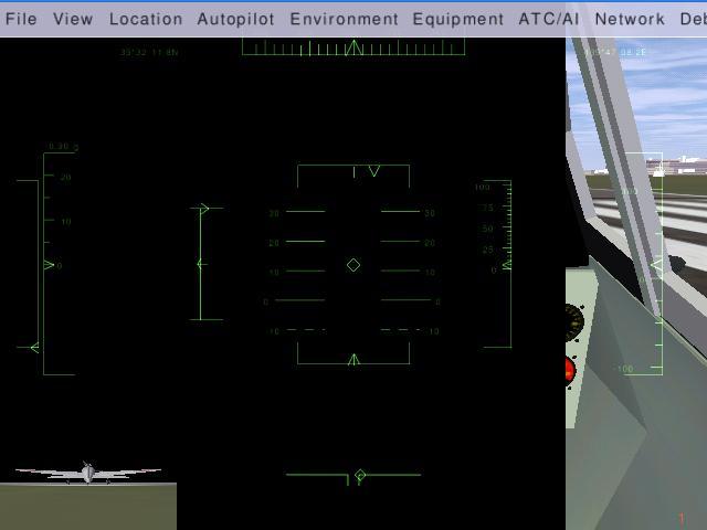 FlightGear ver.1.9.0 の黒いベタ/壁