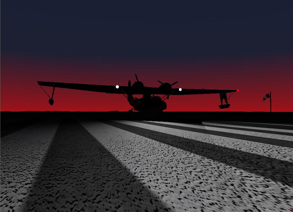 カタリナに着陸灯