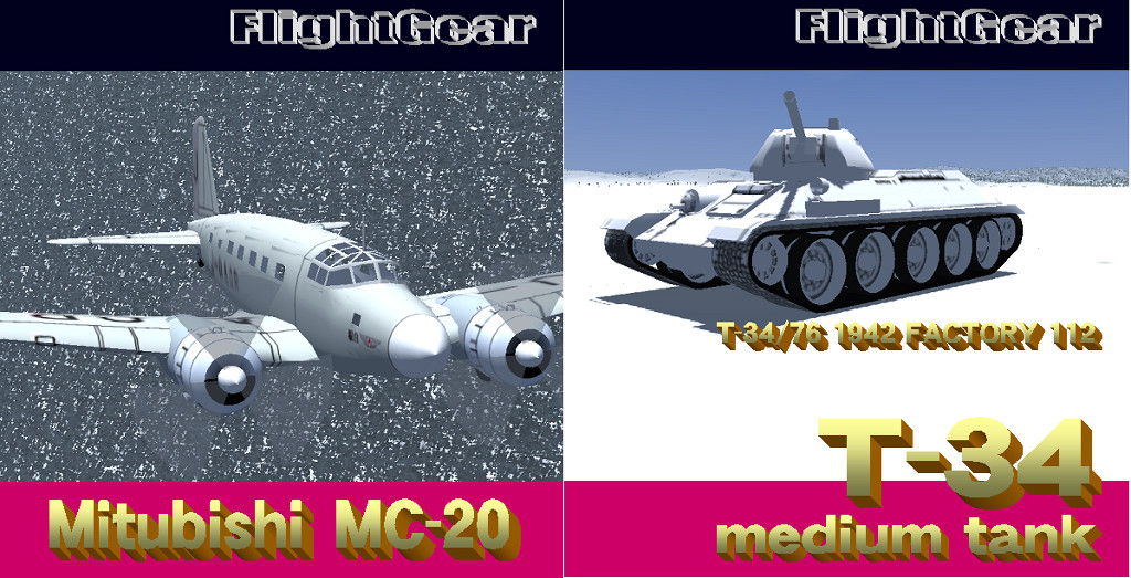 MC-20とT-34の自作2作