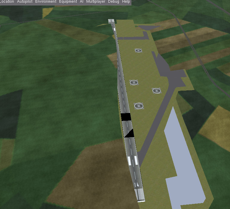 TGWebで作成した滑走路(RJCO)