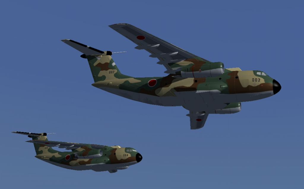 川崎C-1 & C-1僚...