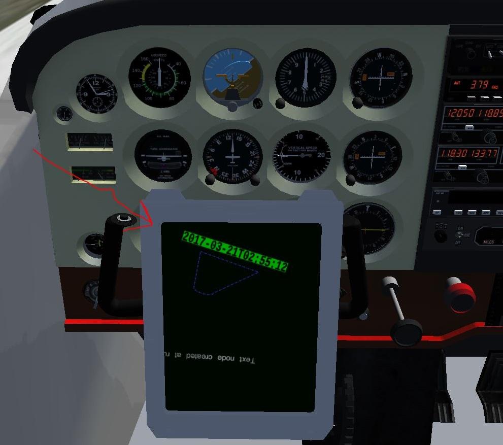 C172: GPS(?)が消せない